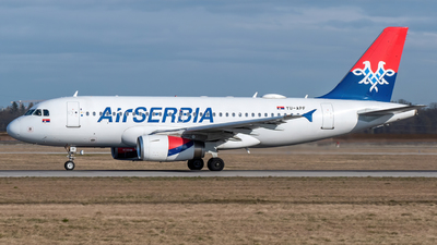 A picture of YUAPF - Airbus A319132 - AirSERBIA - © marfi80