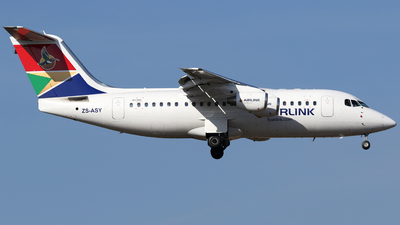 ZS-ASY - British Aerospace Avro RJ85 - Airlink