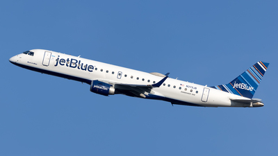 A picture of N373JB - Embraer E190AR - JetBlue Airways - © Cary Liao
