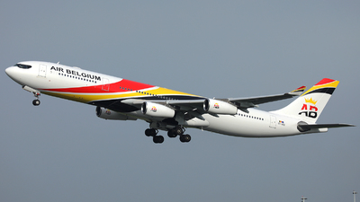 A picture of OOABD - Airbus A340313 - Air Belgium - © R. Eikelenboom