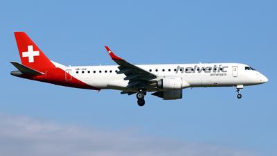 A picture of HBJVV - Embraer E190LR - Helvetic Airways - © Javier Rodriguez - Amics de Son Sant Joan