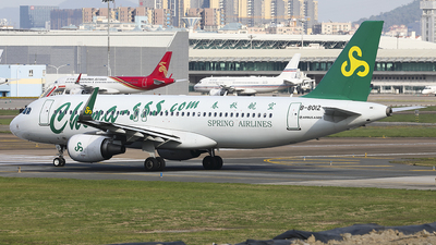A picture of B8012 - Airbus A320214 - Spring Airlines - © Luo Chun Hui