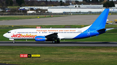 A picture of GGDFF - Boeing 73785P - Jet2 - © tianqi yao