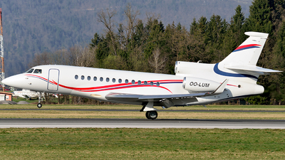 OO-LUM - Dassault Falcon 7X - Belgium - Air Force (Luxaviation)