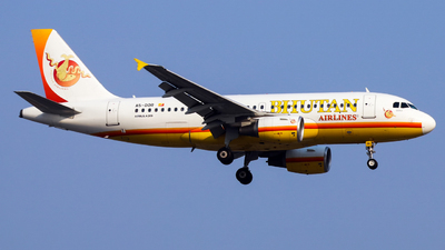 A picture of A5DOR - Airbus A319115 - Bhutan Airlines - © Jack  Li