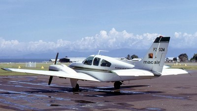 P2-SQM - Beechcraft 95-B55 Baron - Macair Airlines