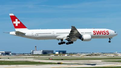 A picture of HBJNC - Boeing 7773DE(ER) - Swiss - © Mingfei S