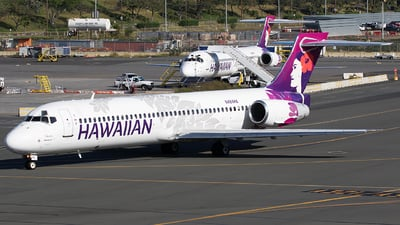 A picture of N484HA - Boeing 71722A - Hawaiian Airlines - © BennyH