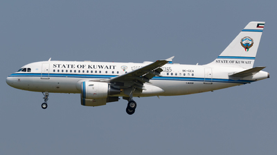 9K-GEA - Airbus A319-115(CJ) - Kuwait - Government