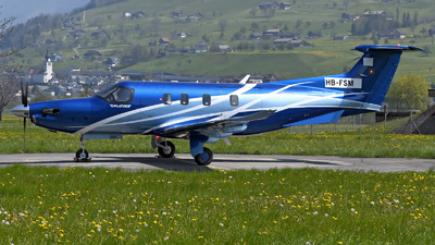 A picture of HBFSM - Pilatus PC12/47E - Pilatus Flugzeugwerke - © Mirko Bleuer