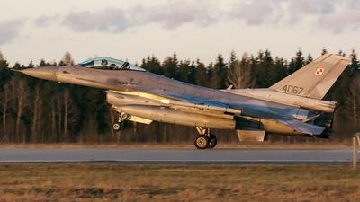 4067 - Lockheed Martin F-16C Fighting Falcon - Poland - Air Force