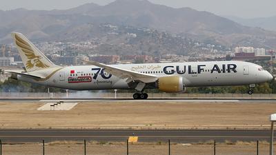 A picture of A9CFF - Boeing 7879 Dreamliner - Gulf Air - © Jorge Medina Mediavilla