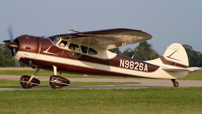 N9826A - Cessna 195 - Private