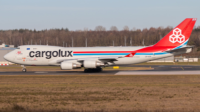 A picture of LXLCL - Boeing 7474HAF(ER) - Cargolux - © Gregory_Martin