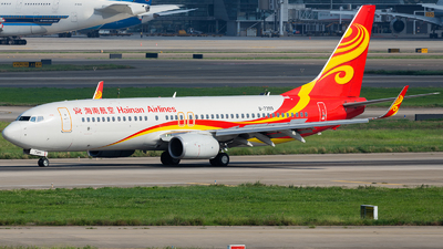 A picture of B7399 - Boeing 73784P - Hainan Airlines - © ZGGG RWY01