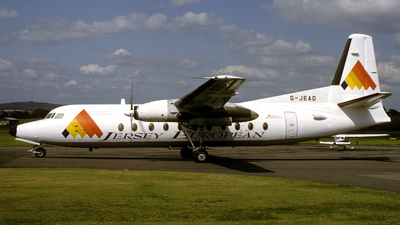 G-JEAD - Fokker F27-500 Friendship - Jersey European Airways