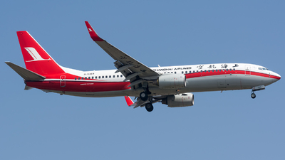 A picture of B5369 - Boeing 7378Q8 - Shanghai Airlines - © BobH