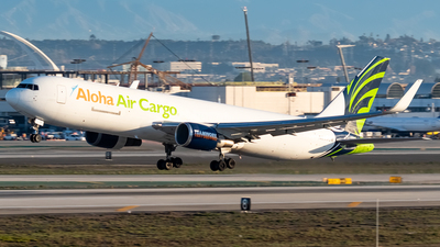 A picture of N399CM - Boeing 767323(ER)(BDSF) - Aloha Air Cargo - © Ricky Teteris