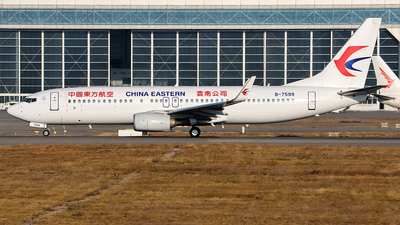 A picture of B7599 - Boeing 73789P - China Eastern Airlines - © ChengFJ