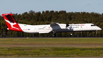 A picture of VHQOU - De Havilland Canada Dash 8400 - Qantas - © Brandon Giacomin