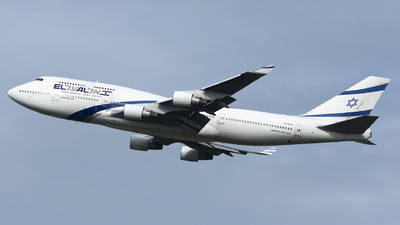 A picture of 4XELC - Boeing 747458 - [27915] - © Traffico_aereo (Olivieri Enrico)