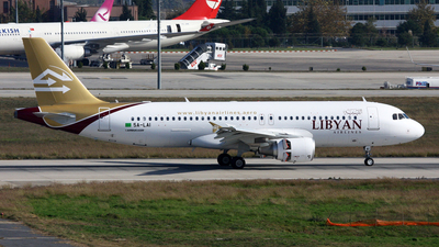 5A-LAI - Airbus A320-214 - Libyan Airlines