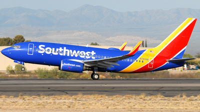 A picture of N7859B - Boeing 7377Q8 - Southwest Airlines - © Jason Whitebird