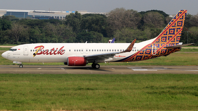 PK-LBZ - Boeing 737-8GP - Batik Air