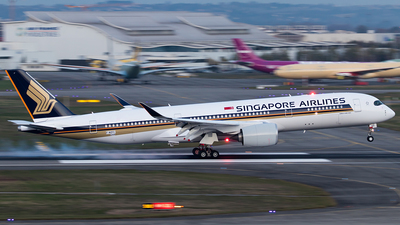 F-WZFC - Airbus A350-941 - Singapore Airlines