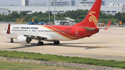 A picture of B5607 - Boeing 73787L - Shenzhen Airlines - © Qiao Zheng
