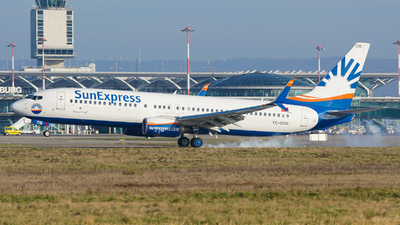 A picture of TCSOB - Boeing 7378HC - SunExpress - © Stefan Gschwind