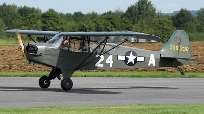 A picture of GLIVH - Piper L4H Cub - [11354] - © James Mepsted