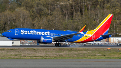 A picture of N1781B - Boeing 737 MAX 8 - [62543] - © Nick Sheeder