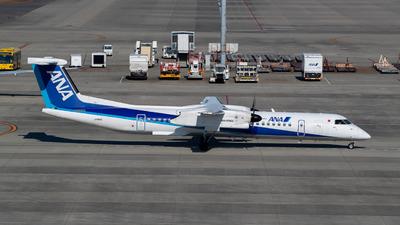 A picture of JA859A - De Havilland Canada Dash 8400 - All Nippon Airways - © Joe Masui