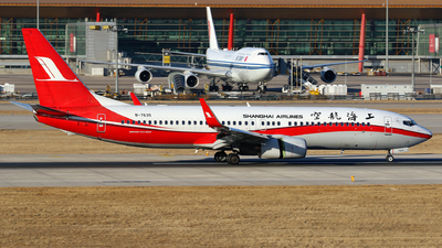 A picture of B7635 - Boeing 73789P - Shanghai Airlines - © yiran