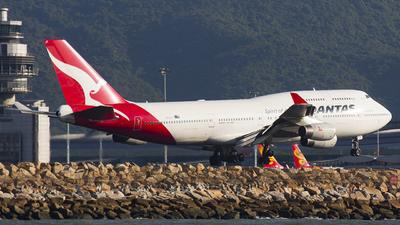 VH-OJT - Boeing 747-438 - Qantas