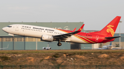A picture of B5607 - Boeing 73787L - Shenzhen Airlines - © Wenbin Lin