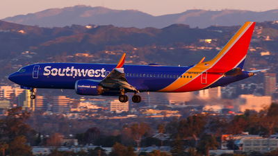 A picture of N8730Q - Boeing 737 MAX 8 - Southwest Airlines - © James Rowson