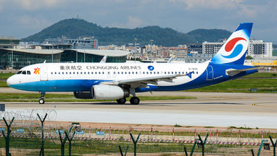 A picture of B1826 - Airbus A320232 - Chongqing Airlines - © Charlie