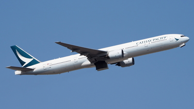 A picture of BHNM - Boeing 777367 - Cathay Pacific - © toeychincha