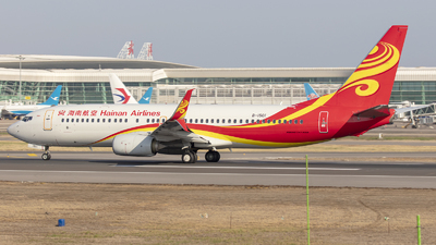 A picture of B1501 - Boeing 73784P - Hainan Airlines - © Eric Wang