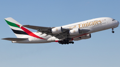 A picture of A6EUH - Airbus A380861 - Emirates - © Shon F