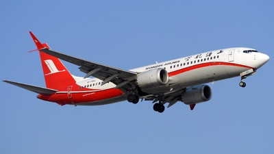 A picture of B1382 - Boeing 737 MAX 8 - Shanghai Airlines - © RobertPage