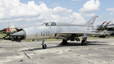 1215 - Mikoyan-Gurevich MiG-21PF Fishbed - Czechoslovakia - Air Force