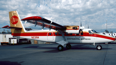 N23RM - De Havilland Canada DHC-6-300 Twin Otter - Continental Express (Rocky Mountain Airlines)