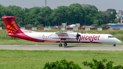 A picture of VTSQG - De Havilland Canada Dash 8400 - SpiceJet - © Rohan Paliwal