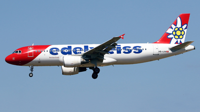 A picture of HBIJW - Airbus A320214 - Edelweiss Air - © Javier Rodriguez - Amics de Son Sant Joan