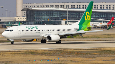 A picture of JA06GR - Boeing 7378AL - Spring Airlines Japan - © Fang Xiaoyu