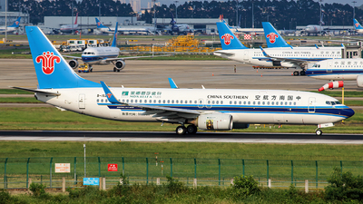 A picture of B1520 - Boeing 73781B - China Southern Airlines - © Liu Zihao