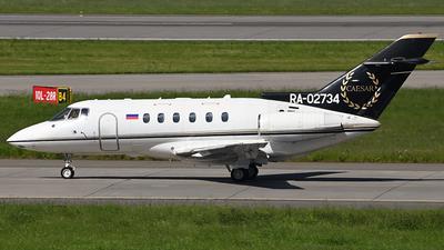 RA-02734 - Raytheon Hawker 800XP - Weltall-Avia
